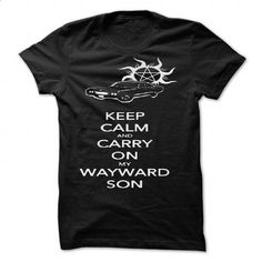 Keep Calm and Carry On My Wayward Son by sarahbevan11 - #shirt outfit #hoodie dress. ORDER HERE => https://www.sunfrog.com/Valentines/Keep-Calm-and-Carry-On-My-Wayward-Son-by-sarahbevan11-87121521-Guys.html?68278