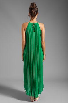 Line & Dot Pleated Maxi Dress en Verde India Pleated Fabric, Pleated Maxi, Nice Dresses, Summer Dresses, Formal Dresses, Revolve Clothing, European Fashion, Designer Dresses, Dress Skirt