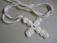 Simple design for cross..I would skip the chain and use it as a bookmark!:)