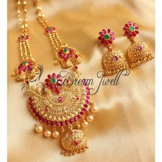 Online Shopping for GORGEOUS GOLD DESIGN INSPIRED KEMP  | Jewellery Sets | Unique Indian Products by Dreamjwell - MDREA77317852270