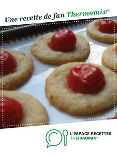 Sablés parmesan tomate cerise pour l'apéro par elleisab. Une recette de fan à retrouver dans la catégorie Entrées sur www.espace-recettes.fr, de Thermomix<sup>®</sup>.