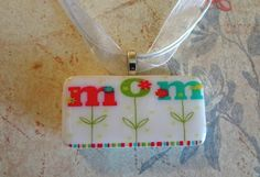 Mom Domino Pendant Domino Jewelry Upcycled by pendantparadise