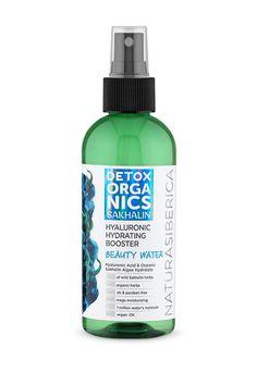 Официальный сайт Natura Siberica Detox Organics, Beauty Water, Organic Herbs, Hyaluronic Acid, Vodka Bottle, Drinks, Drinking, Beverages, Drink