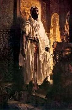 I think this is in the Philadelphia Art Museum - One of my favorites. The History And the Age of The Moors in Spain