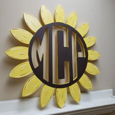 Cute monogram sunflower shipping out to an Etsy customer! Sunflower Nursery, Sunflower Room, Sunflower Wall Decor, Bedroom Themes, Nursery Themes, Nursery Ideas, Nursery Decor, Bedrooms, Girl Nursery