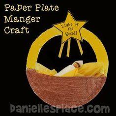 """Light of the World"" Paper Plate Manger Christmas Craft"
