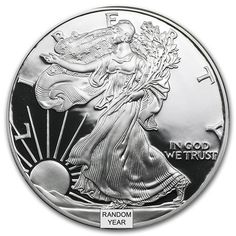 Proof American Silver Eagle Coins for Sale (Limited Mintage) - Money Metals Exchange LLC Old Silver Coins, Silver Eagle Coins, Silver Eagles, Coin Dealers, Eagle Design, Coin Worth, Bullion Coins, Coins For Sale, Proof Coins