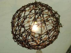 Barbed Wire Chandelier = Colorado Spartanette
