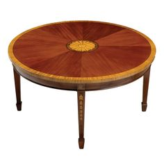 Round Hepplewhite Coffee Table
