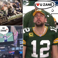 LOL feels so good to be loved. #ILoveYou #IKnow #Packers vs #Cowboys #FunnyStuffZaneDoes #ZaneTakesThis #HiZane #CowboysNation #Zaneatcowboys