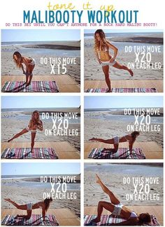 Malibooty #Workout for Stronger #Glutes  | ToneItUp