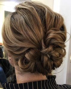 Cute Looped and Pinned Updo