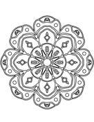 Abstract Mandala Dibujo para colorear