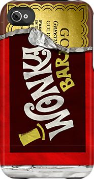 """Wonka Bar Golden Ticket"" iPhone 4/4S Capsule Case."