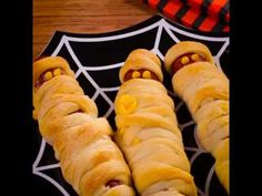 Crescent Mummy Dogs recipe from Pillsbury.com - Tap the pin for the most adorable pawtastic fur baby apparel! You'll love the dog clothes and cat clothes! <3