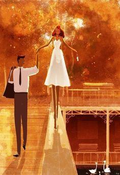 40 Romantic Digital Illustrations by Pascal Campion Couple Illustration, Digital Illustration, Pascal Campion, Wow Art, Art Graphique, Couple Art, Pics Art, Famous Artists, Love Is All
