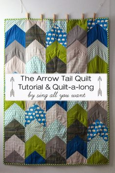 In August, Laurel of Sing All You Want  started a quilt along based on a design she came up with for her son. She named it Arrow Tail Quilt ...
