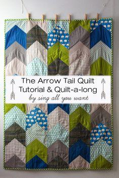 The Kansas City Modern Quilt Guild: Inspiration of the Week - Arrow Tail Quilt