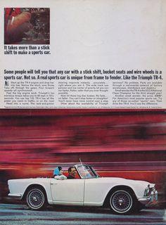 1965 Triumph TR-4 Sports Car Ad Vintage by AdVintageCom on Etsy