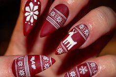 Merry Christmas Stiletto Nails