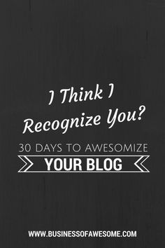 Day 5: Use the same photograph on your blog & your social media channels to Brand You - one that is easy to recognize as being you! #BrandYOU #30DAB - Business of Awesome
