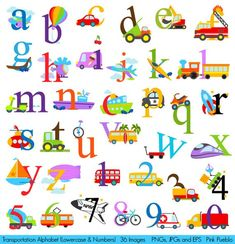 Transportation Alphabet Clipart, Transporation Alphabet Clip Art, Construction Clipart, Lowercase and Numbers - Commercial and Personal Use - Welcome to our website, We hope you are satisfied with the content we offer. Doodle Alphabet, Alphabet Crafts, Alphabet Art, Alphabet And Numbers, Clipart, Party Banners, Lowercase A, Craft Items, Handmade Crafts