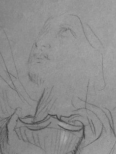 CHASSERIAU Théodore,1843 - Ste Marie l'Egyptienne, Légende, Etude pour l'Eglise St-Merri - drawing - Détail 09