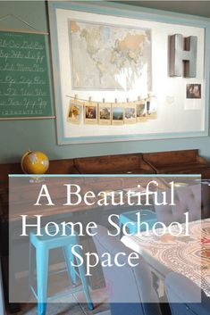 What a beautiful homeschool space! I would love to learn here!