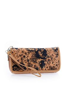 Floral Double Section Wallet