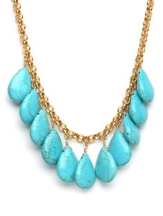 make any outfit pop with this bold turquoise necklace... yay for statement pieces!