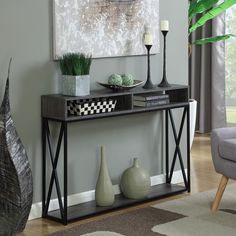 Get inspired by Modern Foyer Design photo by Wayfair. Wayfair lets you find the designer products in the photo and get ideas from thousands of other Modern Foyer Design photos. Decor, Furniture, Console Desk, Foyer Design, Table Storage, Console, Table, Home Decor, Console Table