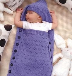 Sleeping bag for newborn Pattern free