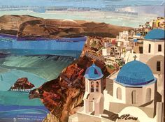 """56 Likes, 6 Comments - Jim Nonas (@jimnonasart) on Instagram: """"""""Santorini"""" 12x16 I'm making pieces to sell at St. John's Greek Orthodox Church art show coming up…"""""""