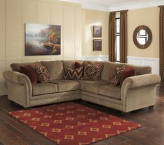 Grecian - Amber 2-Piece Sectional with Right Loveseat by Ashley