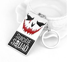 New Movie Action Figure Key Rings Suicide Squad Keychain Alloy Metal Key Chains Pendant Boys Girls Gift