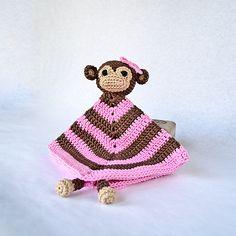 Ravelry: Monkey Security Blanket pattern by Carolina Guzman.
