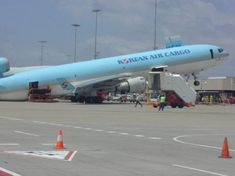 korean air cargo plane- maybe too much junk in the trunk...