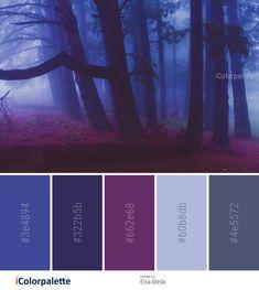 Color Palette Ideas from Nature Forest Purple Image aesthetic color schemes 17 Color Palette inspirations from Elsa bleda Rgb Palette, Lila Palette, Dark Color Palette, Blue Colour Palette, Color Palate, Nature Color Palette, Purple Color Schemes, Color Schemes Colour Palettes, Color Combos