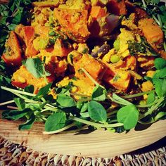 Lunch today served with a side of sunshine...Moroccan sweet potato salad with turmeric and tahini dressing from our lovely stallholder Pop Up Providore