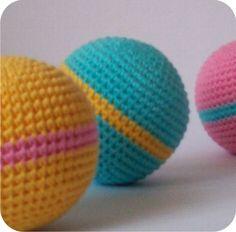 bolas de crochê