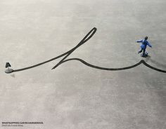 """Check out new work on my @Behance portfolio: """"Samsung - don't text and drive"""" http://on.be.net/1BMRmLJ"""