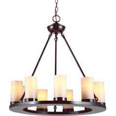 Sea Gull Lighting Ellington 9-Light Burnt Sienna Single Tier Chandelier-31587BLE-710 - The Home Depot