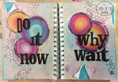 Jo Firth-Young: DLP: Journal Page. PaperArtsy Fresco Finish paints. Sizzix 'word play' die. JOFY30 stamp set