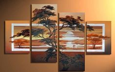 http://g02.a.alicdn.com/kf/HTB1QaPAHpXXXXbtaXXXq6xXFXXX6/Modern-Oil-Painting-On-Canvas-African-Scenery-Guaranteed-wall-decor-landscaping-paintings-free-shipping-4-panel.jpg_640x640.jpg