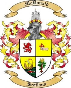 The  McDonald coat of arms / family crest from Scotland ...