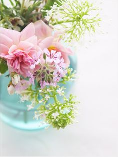 Beautiful flowers in pastel colors