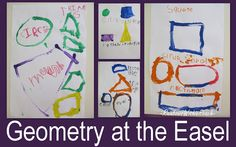 geometry for children, shapes in art paintings (Shapes at RainbowsWithinReach)