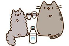 pusheen and stormy the kitten drink milk cheers! Crazy Cat Lady, Crazy Cats, Pusheen Stormy, Pusheen Love, Pusheen Stuff, Pusheen Stickers, Image Chat, Cat Drinking, Drinking Milk