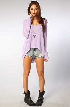 Lynn Sweater in Lavender //