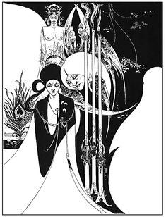 Aubrey Beardsley, Illustrazione per Le Morte D'arthur, 1893